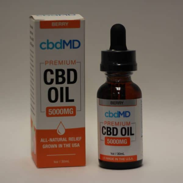"CbdMD - 5000mg CBD ""Berry"" Tincture"