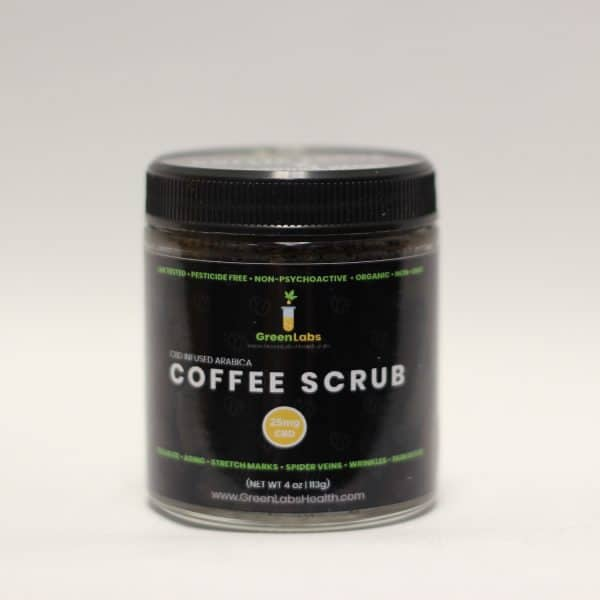 Green Labs - 25mg CBD Infused Arabica Coffee Scrubs