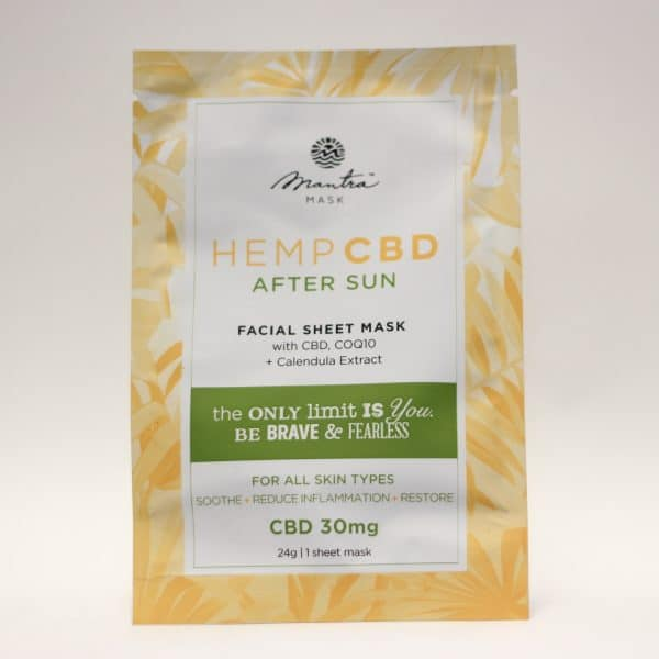 Mantra Mask - CBD Facial Sheet Mask After Sun For All Skin Types