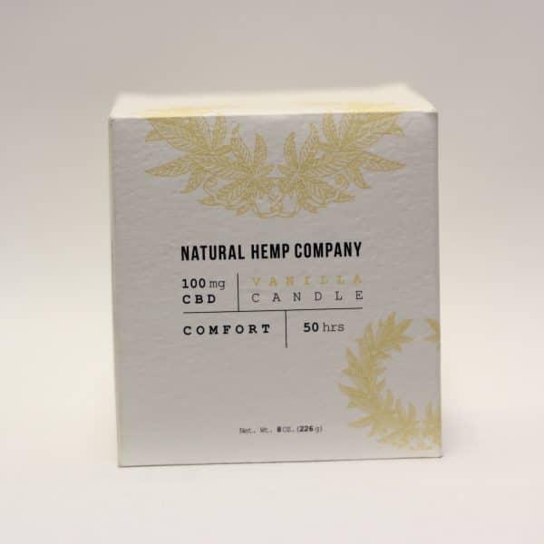 Natural Hemp Company - 100mg CBD Comfort Candle with Vanilla