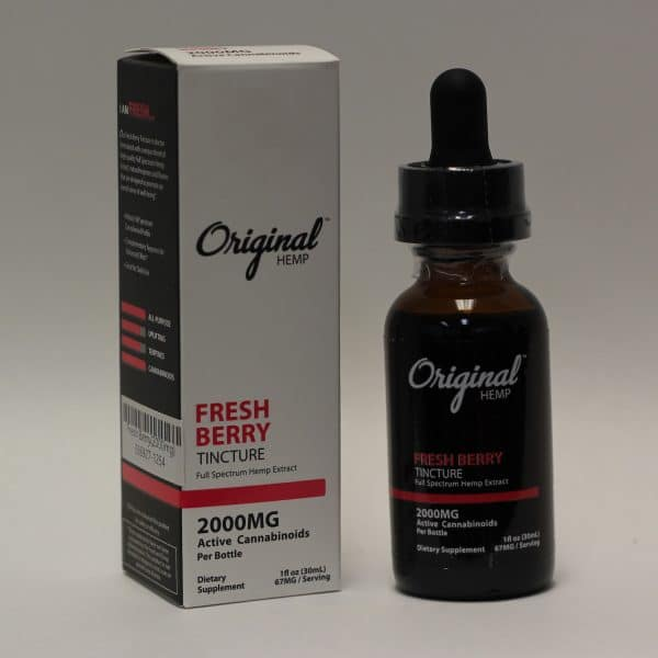 Original Hemp - 2000mg Hemp Tincture Fresh Berry