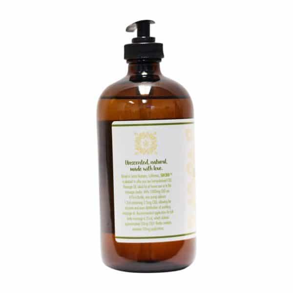 SBCBD - 1000mg CBD Massage Oil