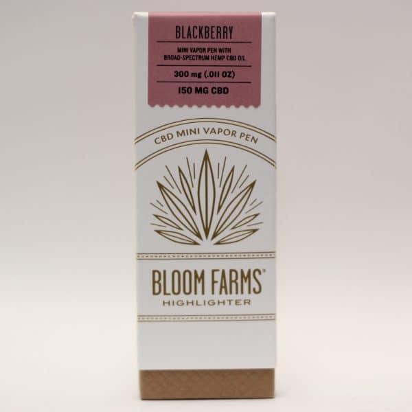 Bloom Farms - 150mg CBD Vapor Pen Blackberry Flavor