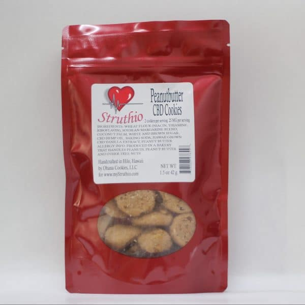 Struthio 250 MG Lab Tested Peanutbutter CBD Cookies