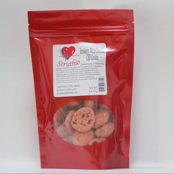 Struthio 250 MG Lab Tested Strawberry White Chocolate CBD Cookies