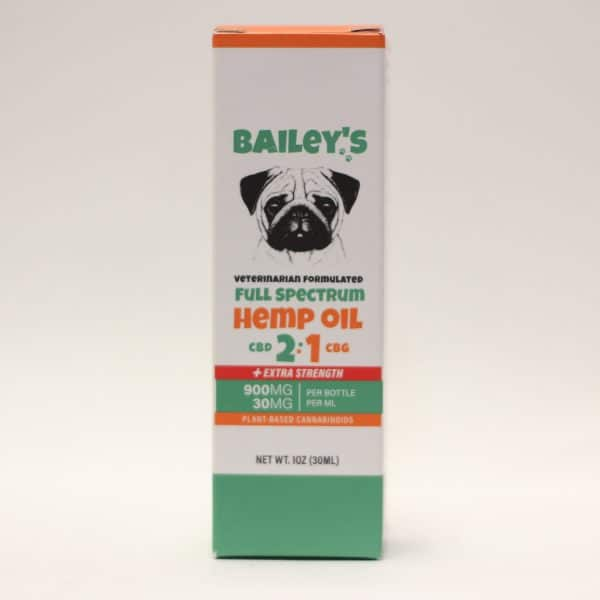 Bailey's 900 MG CBD/CBG Pet Drops made by veterinarians