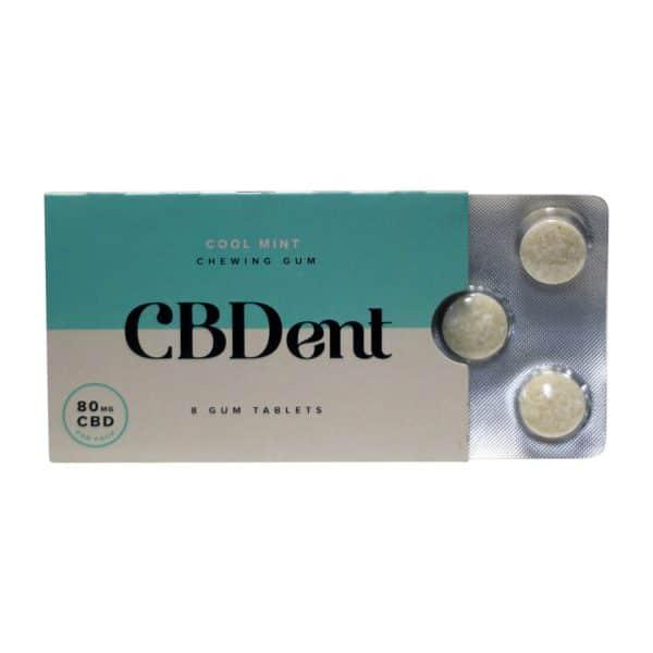 CBDent 80 MG Mint Chewing Gum