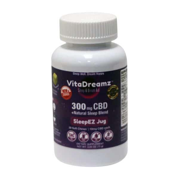 VitaDreamz 300 MG CBD Soft Chews Sleep Aid with Melatonin
