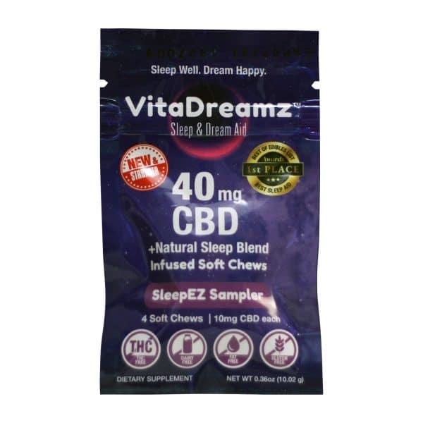 VitaDreamz 40 MG CBD Infused Soft Chews SleepEZ Sampler