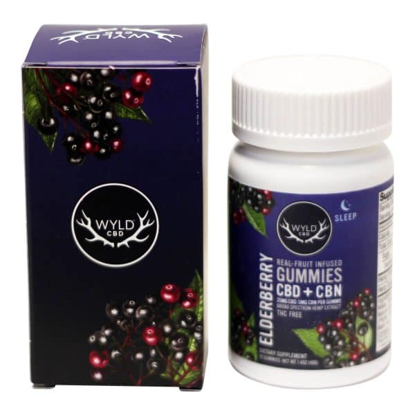 Wyld CBD - CBD/CBN 1:1 Infused Sleep Gummies Elderberry