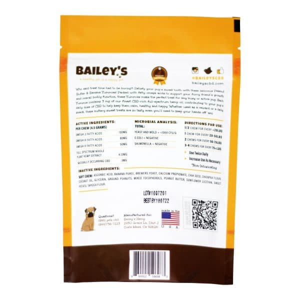 Bailey's - Peanut Butter & Banana Extra Strength Yummies 180 MG