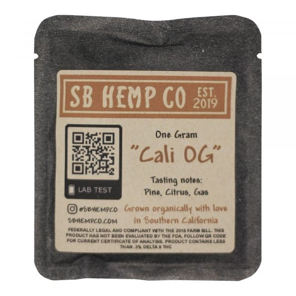 SB Hemp Company - Cali OG Hemp Flower 1G
