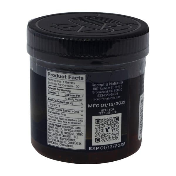 Receptra Sleep CBN Infused Gummies