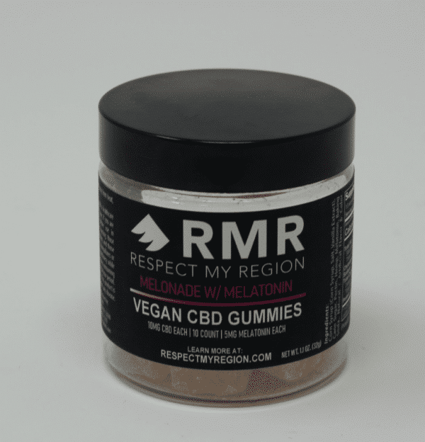 Respect My Region 100MG Vegan CBD Gummies Melonade w/ Melatonin