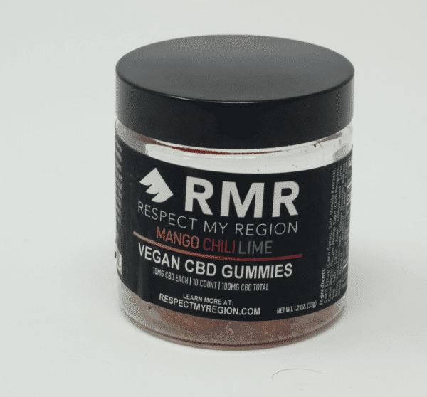 Respect My Region 100MG Vegan CBD Gummies Mango Chili Lime