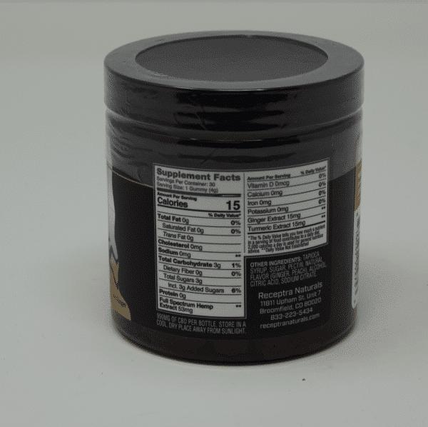 Receptra - CBD + Turmeric & Ginger Fruit Gummies | Remedista CBD