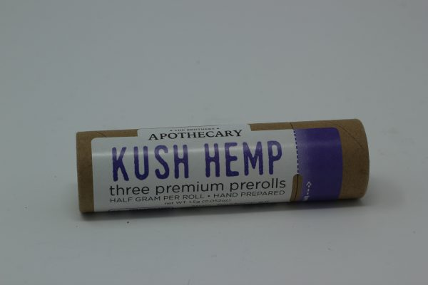 Apothecary Brothers Kush Hemp Three Pre-Rolls Pack
