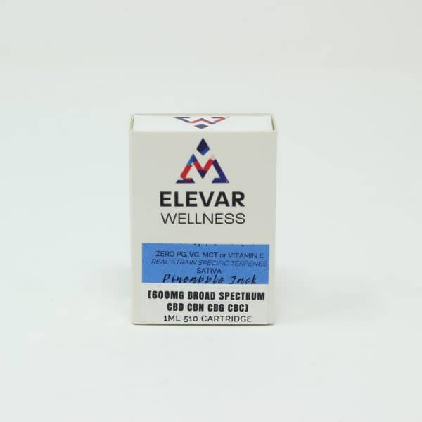 Elevar Wellness 600MG Broad Spectrum CBD Vape Cartridge - Pineapple Jack