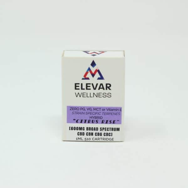 Elevar Wellness 600MG Broad Spectrum CBD Vape Cartridge - Citrus Rise