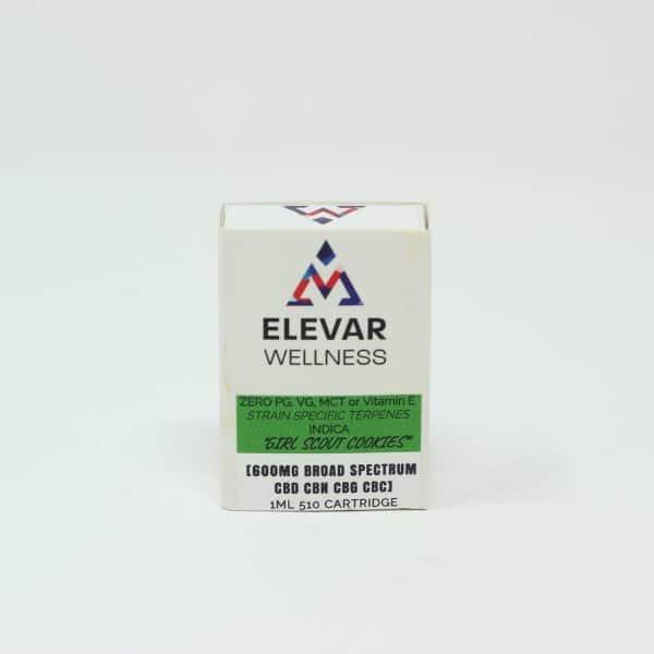 Elevar Wellness 600MG Broad Spectrum CBD Vape Cartridge - Girl Scout Cookies