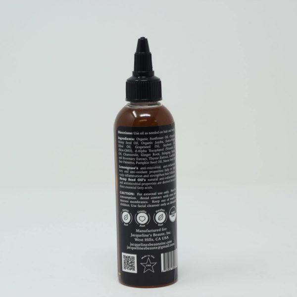 Jacqueline's Beauté - Lemongrass Hemp Hair and Body Oil