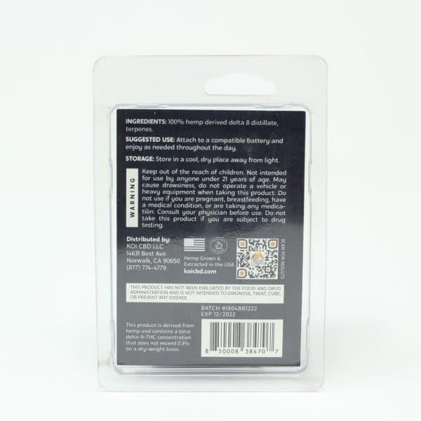 Koi 1000MG Hemp Derived Delta 8 Vape Cartridge