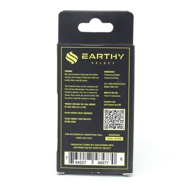 Earthy Select - Lemon Skunk Delta 8 1 Gram Vape Cartridge